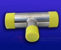 Tee BPE Acero inoxidable 316L electropulido farmaceutica tuberia codo