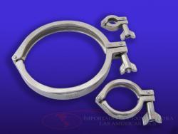 Abrazadera clamp accesorios sanitarios acero inoxidable 304 316